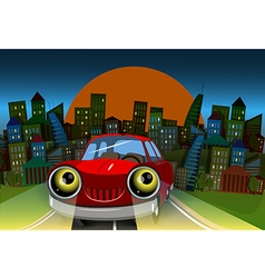 The road into town vector image vector image
