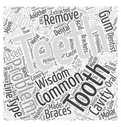 Common oral health problems in adolescents word vector
