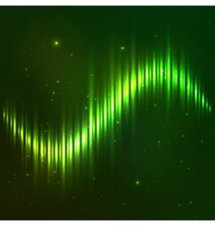 Green shining wave equalizer vector image