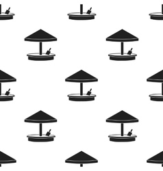 Sandbox icon in black style isolated on white vector image vector image
