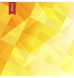 yellow triangles abstract background eps10 vector image vector image
