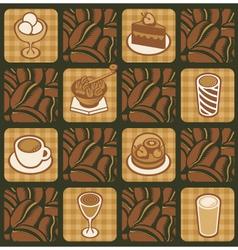 dessert texture vector image
