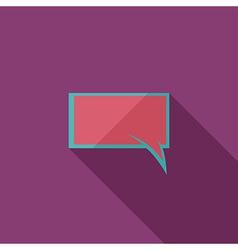 Flat Comic Speech Bubbl vector image vector image