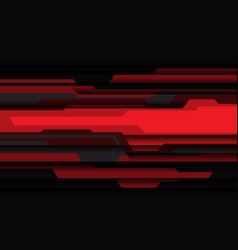 abstract red grey black cyber geometric design vector image
