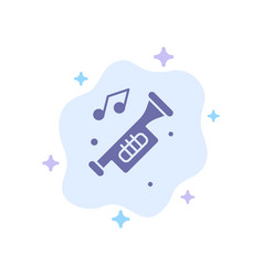 Accessories car horn noise trumpet blue icon on vector