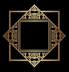 art deco frame border vector image
