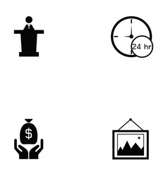 auction icon set vector image