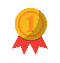 Award rosette number one competition vector
