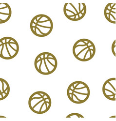 basketball pattern seamless isolated vector image