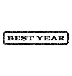Best year watermark stamp vector
