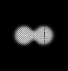 Binoculars view with measurement marks vector