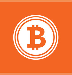 bitcoin flat icon vector image