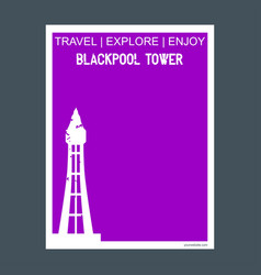 Blockpool tower blackpool uk monument landmark vector