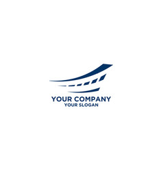 blue street insurance logo design vector image