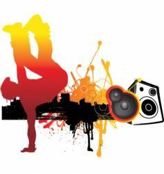 Break dancing vector