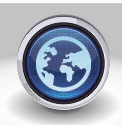 button with internet icon vector image