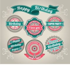 Calligraphic Design Elements birthday vector image