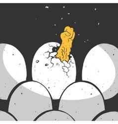 Chicken Egg Cartoon vector