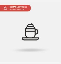 coffee latte simple icon vector image