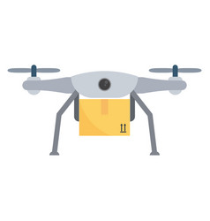 Concept for delivery service drone carrying vector