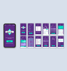 cryptocurrency ui smartphone interface vector image