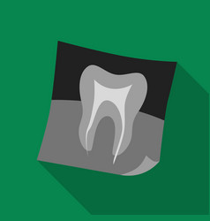 Dental x-ray icon in flat style isolated on white vector