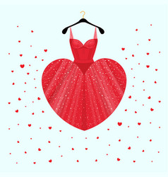 dress for valentine day party card vector image