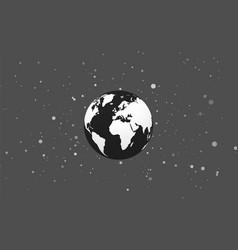 Earth globe abstract bokeh black background vector