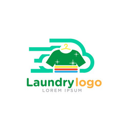 fast laundry logo vector image