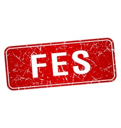 Fes red stamp isolated on white background vector