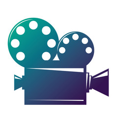 Film projector cinema camera icon vector