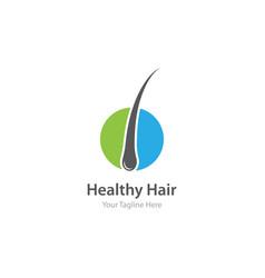 follicle hair treatment logo vector image