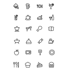Food Outline Icons 1 vector image