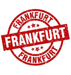 Frankfurt red round grunge stamp vector