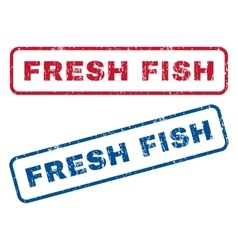 Fresh Fish Rubber Stamps vector