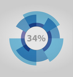 futuristic circle download information vector image