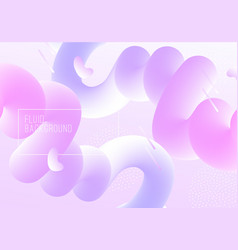 Geometric background with modern fluid shapes vector