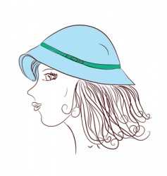 girl wearing hat vector image