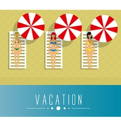 Girls on vacation vector