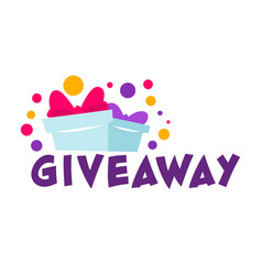 giveaway presents for followers and subscribers vector image