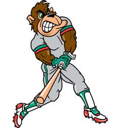 Gorilla sports baseball logo mascot vector