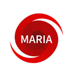 graphic symbol of hurricane maria vector image