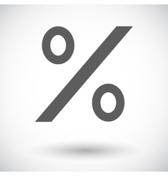 Icon percent sign 2 vector