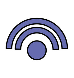 internet wifi signal on white background vector image