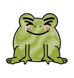 Isolated cute standing toad vector