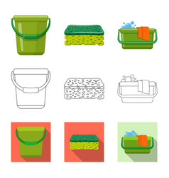 Isolated object cleaning and service icon vector