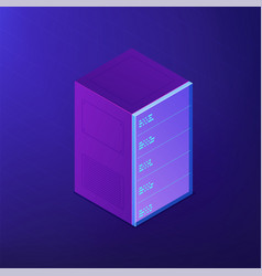 Isometric server rack 3d vector