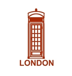London phone booth isolated on white photo vector image