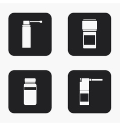 modern medical kit icons set vector image