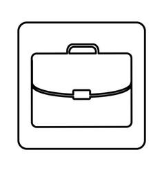 Monochrome contour square with executive suitcase vector